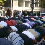 Muslim worship in NYC 2012